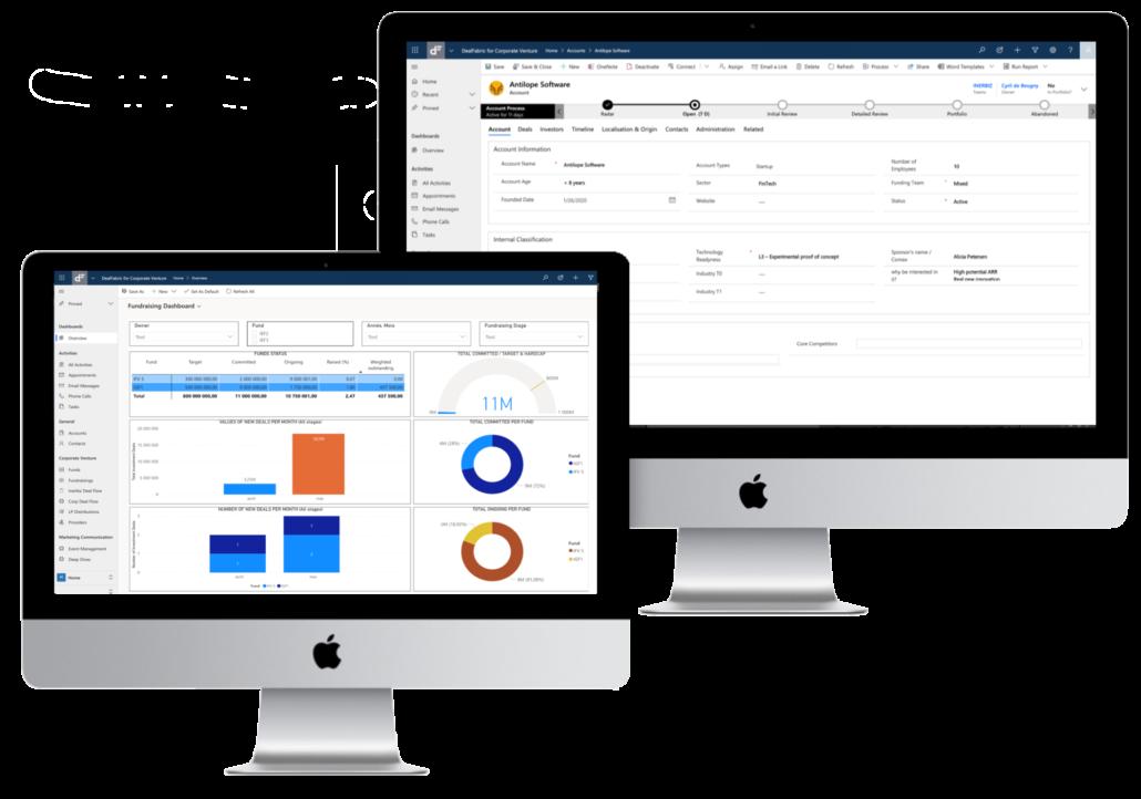 DealFabric CRM fournit un module de reporting dynamique et puissant pour analyser votre deal flow et vos opportunités de fundraising