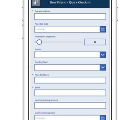 Deal flow management : DealFabric Quick Check-In l'application mobile de création optimisée de deals pour investisseur